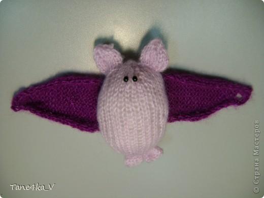 Летучая мышка :) амигуруми :) Крылышки на пуговке фото 2