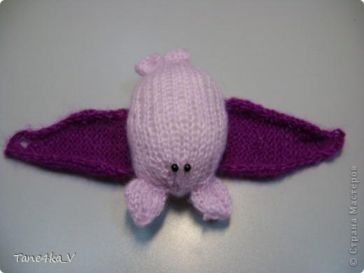 Летучая мышка :) амигуруми :) Крылышки на пуговке фото 3