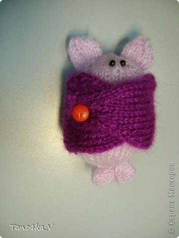 Летучая мышка :) амигуруми :) Крылышки на пуговке фото 4