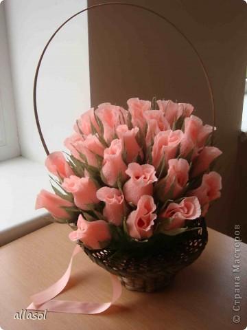 Корзина роз на юбилей фото 3