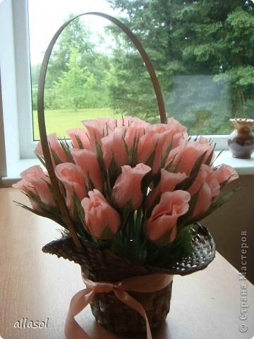Корзина роз на юбилей фото 4