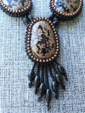 Украшение Бисероплетение Массивные ожерелья Бисер Бусины Нитки фото 20.