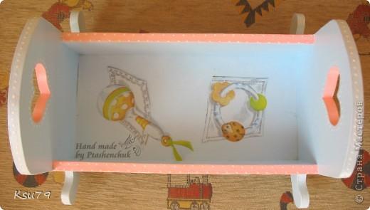 вот такая кроватка получилась из деревянной кроватки))) делала специально для выставок как декорацию фото 4