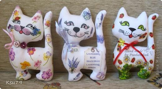 мои любимые котейки по выкройке Настиной бабушки  http://stranamasterov.ru/node/42548 фото 1