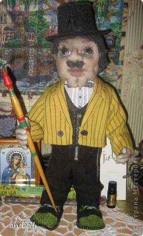 Кукла Ариша с применением машинной вышивки. фото 2