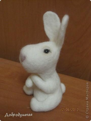 маленькая и беззащитная зайка. сделала в свой собственный день рождения =))) взгрустнулось мне что-то тогда....  фото 2