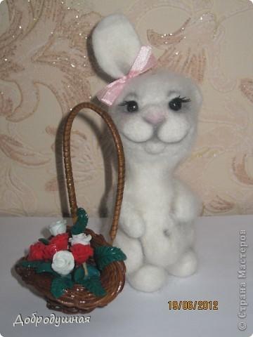 маленькая и беззащитная зайка. сделала в свой собственный день рождения =))) взгрустнулось мне что-то тогда....  фото 12