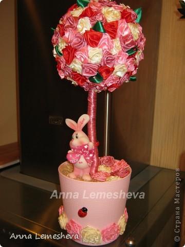 Розовый топиарий!!!