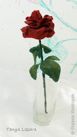 Алая роза. Вышивка фото 1