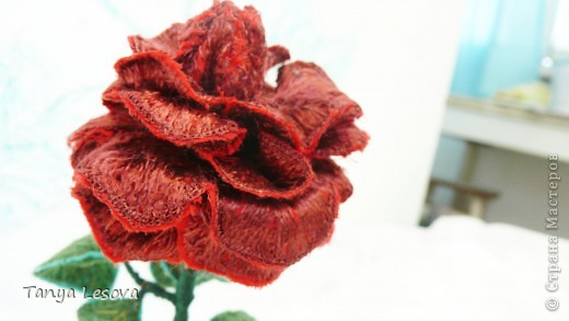 Алая роза. Вышивка фото 3