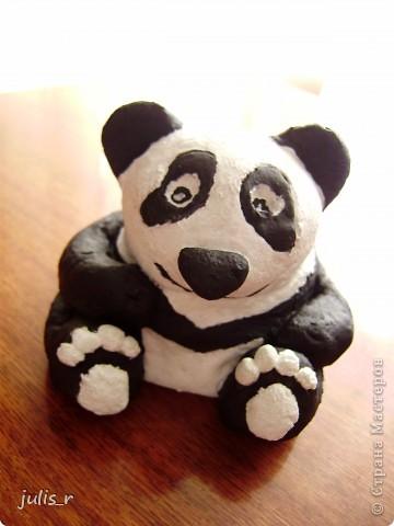 Доброе утро всем мастерицам!!!Вот такую панду хочю вам показать,конечно еще без лака))) фото 2