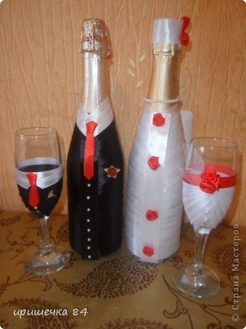 Свадебные бутылочки.