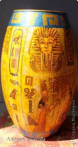 Стеклянная ваза.Тематики:Др.Египет. фото 1