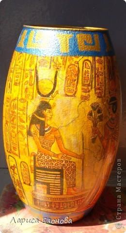 Стеклянная ваза.Тематики:Др.Египет. фото 2