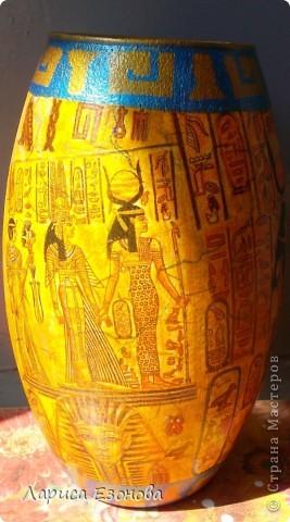 Стеклянная ваза.Тематики:Др.Египет. фото 3
