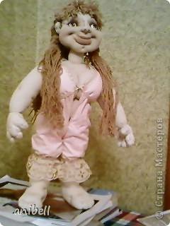 Кукла Ариша с применением машинной вышивки. фото 10