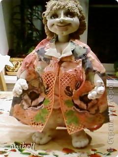 Кукла Ариша с применением машинной вышивки. фото 9