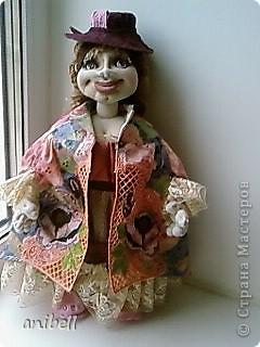 Кукла Ариша с применением машинной вышивки. фото 1