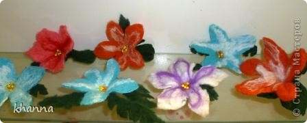 "Цветы в технике ""мокрое валяние"" фото 1"