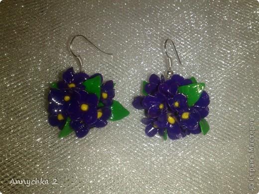 лепила полдня)) наконец закончила! вот только на фото цвет синий, а так цветочки фиолетовые.  фото 2