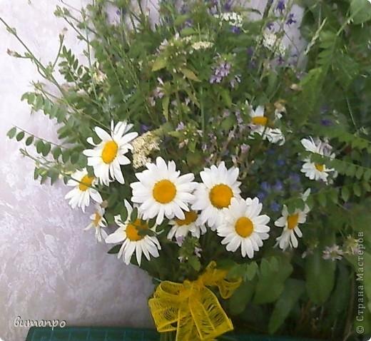 А это цветочки, мы собрали на поляне, тоже на день рождение бабушки... фото 2