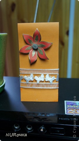 Вот оно какое, мое первое деревце и открытка :) Все делалось в подарок крестнице. Далеко от идеала, но с чего-то надо начинать :) фото 5