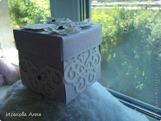 вот такая коробочка для денег и маленького подарочка на свадьбу фото 2