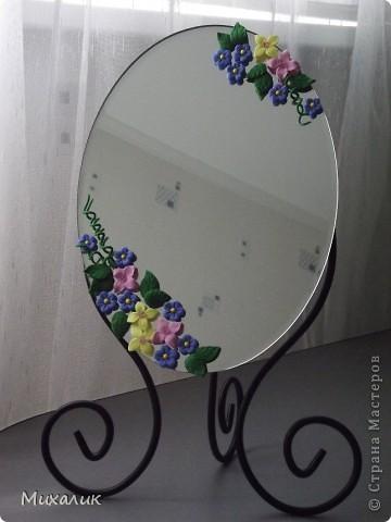 """Добрый день, жители Страны!  Недавно прикупила зеркало на дачу. Но, сами понимаете, оставить его в том же виде - это выше собственных сил. Результат """"доделки"""" выношу на Ваш суд. фото 1"""