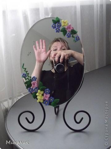 """Добрый день, жители Страны!  Недавно прикупила зеркало на дачу. Но, сами понимаете, оставить его в том же виде - это выше собственных сил. Результат """"доделки"""" выношу на Ваш суд. фото 4"""