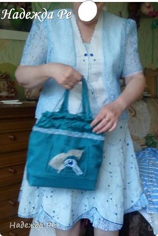 Вот хвастаюсь своим новым ,летним костюмчиком,шила на одном дыхании и недавно добавилась сумочка. фото 2