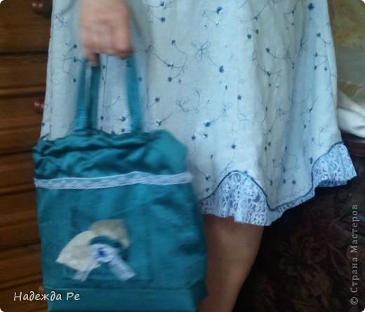 Вот хвастаюсь своим новым ,летним костюмчиком,шила на одном дыхании и недавно добавилась сумочка. фото 4
