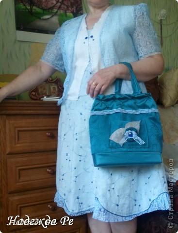 Вот хвастаюсь своим новым ,летним костюмчиком,шила на одном дыхании и недавно добавилась сумочка. фото 9