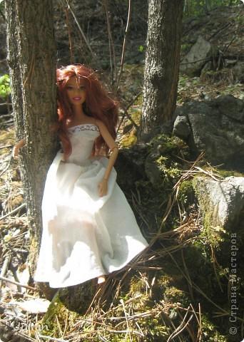 Захотелось сшить кукле легкое и воздушное платье, вот что получилось. фото 3