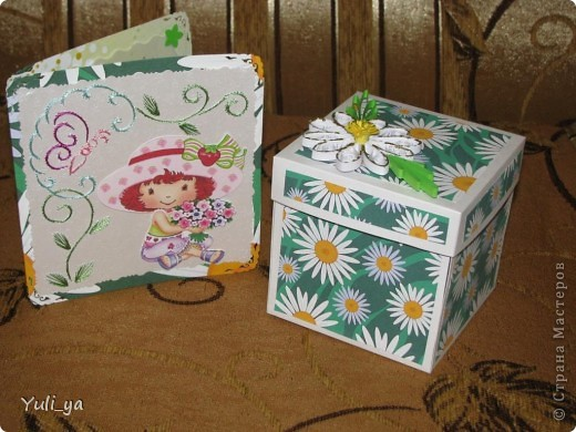 коробочка для подарунка і листівочки фото 1