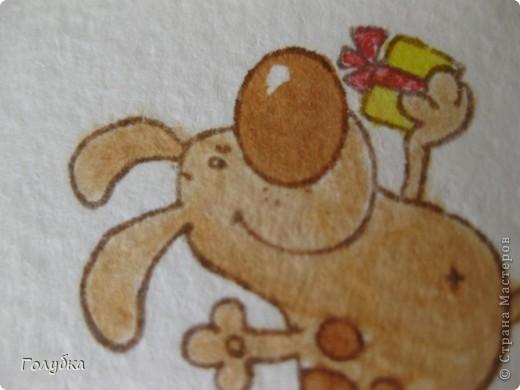Вот такая открытка  получилась в качестве пробы раскрасить   картинку Schoffie's Collection- Skating. Вдохновилась открыткой от Nellie Snellen фото 6