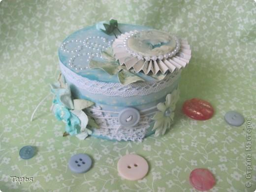Так мне понравилось делать шкатулки. Бобин от скотча накопилось много, делаются шкатулки быстро и расход материала на них небольшой. :) фото 7