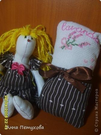 Мышка тильда и подушечка для нее)) фото 1