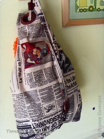 Вот такой получился  смешной у меня рюкзак для  прогулки.. фото 3