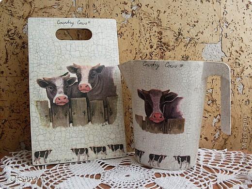 В комплект к доске сделала вот такой кувшин под молочные пакеты. фото 6