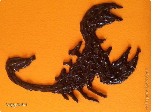 Скорпион из клея