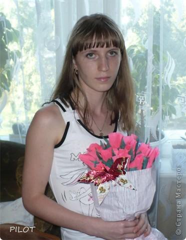 Подарок к Дню рождения дочери. (Мой первый конфетный букет) фото 3