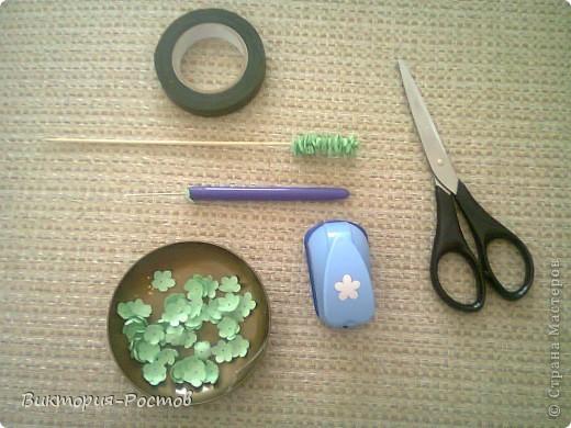 Полевая трава из бумаги+ мини МК фото 4