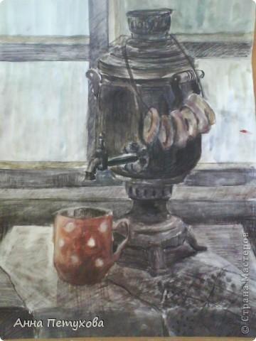 Эта работа выполнена цветным карандашом фото 3