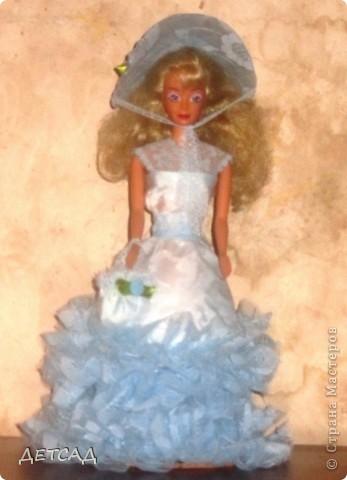 Вот такая куколка в подарок у нас получилась. В руках - сумочка, на головке - шляпка! фото 1