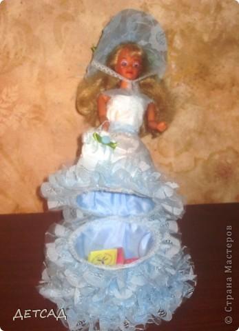 Вот такая куколка в подарок у нас получилась. В руках - сумочка, на головке - шляпка! фото 4
