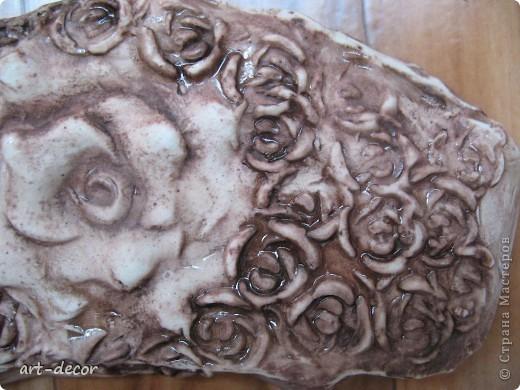 Гипсовый отпечаток, панно маленького размера до 10 см Талисман магнит любви ) фото 2