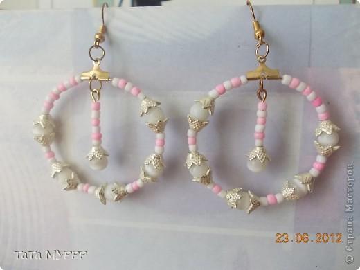 Сережки для моих доченек.... фото 1