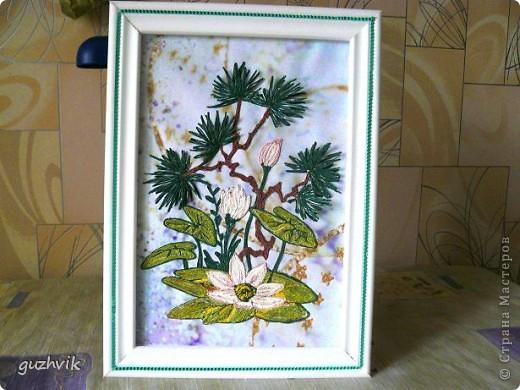 Мой бонсаи! Приветик всем из Одессы!!! Очень захотелось сделать такую картину. Она сделана в технике пейп-арт. Большое спасибо за такую технику, которую придумала Т. Сорокина.   фото 1
