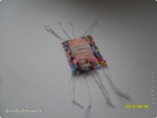 Поделка изделие Бисероплетение Хомячок на коврике Бисер фото 3.