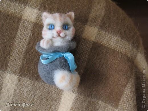 Кот  в  мешке.  Брошь фото 2